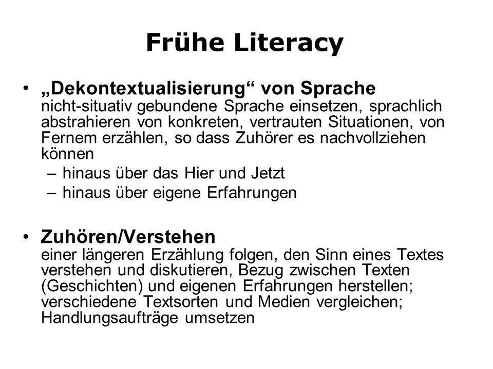 Frühe Literacy