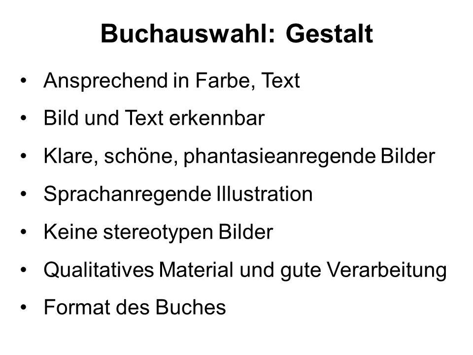 Buchauswahl: Gestalt Ansprechend in Farbe, Text
