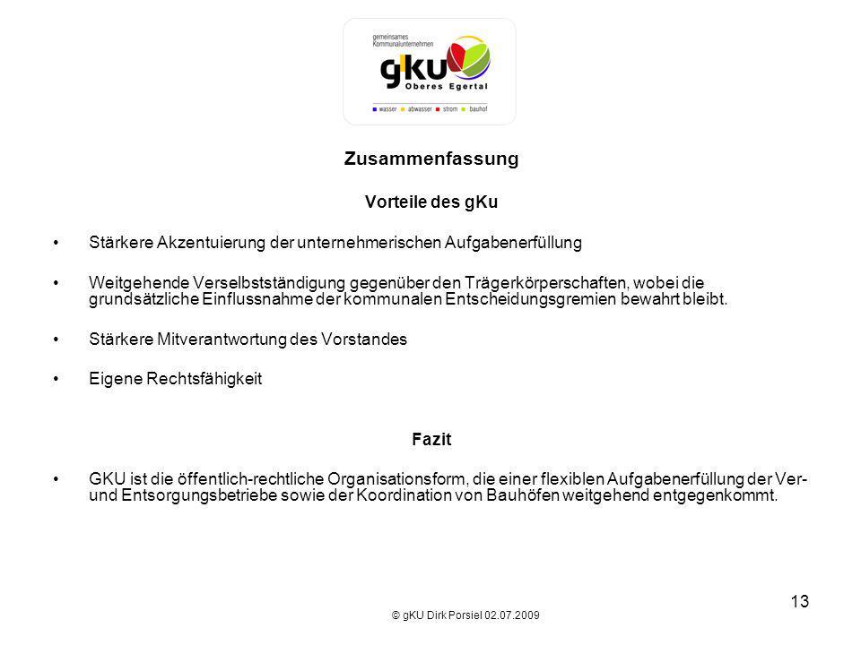 Zusammenfassung Vorteile des gKu