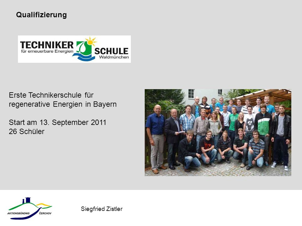 Erste Technikerschule für regenerative Energien in Bayern