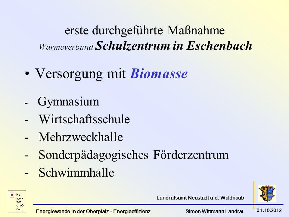 erste durchgeführte Maßnahme Wärmeverbund Schulzentrum in Eschenbach