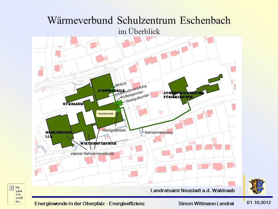 Wärmeverbund Schulzentrum Eschenbach im Überblick