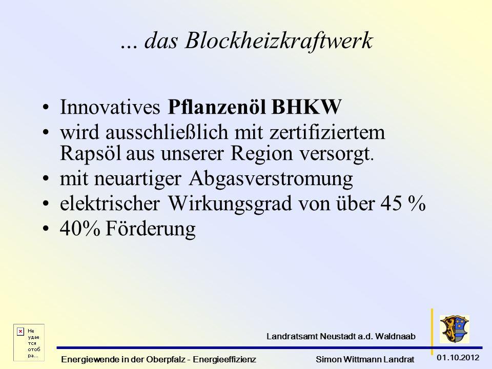 ... das Blockheizkraftwerk