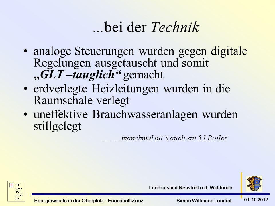 """...bei der Technik analoge Steuerungen wurden gegen digitale Regelungen ausgetauscht und somit """"GLT –tauglich gemacht."""