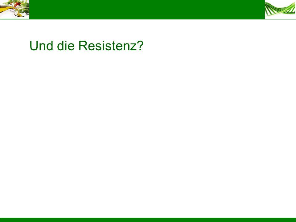 Und die Resistenz