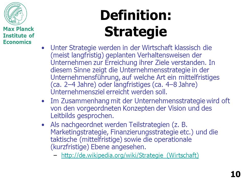 Definition: Strategie