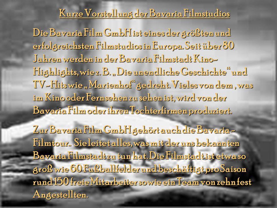 Kurze Vorstellung der Bavaria Filmstudios