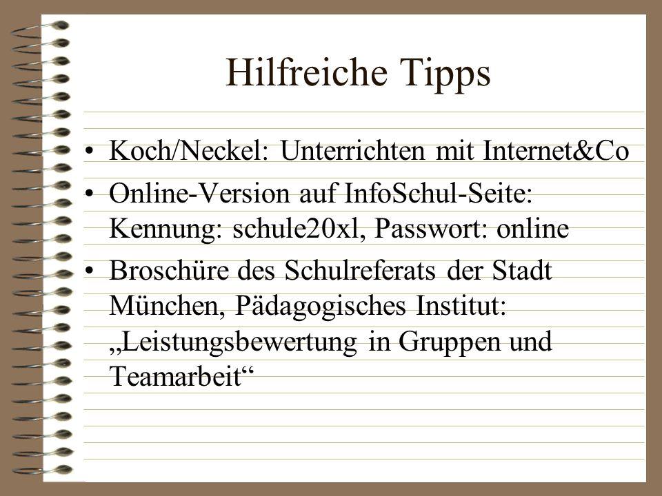Hilfreiche Tipps Koch/Neckel: Unterrichten mit Internet&Co