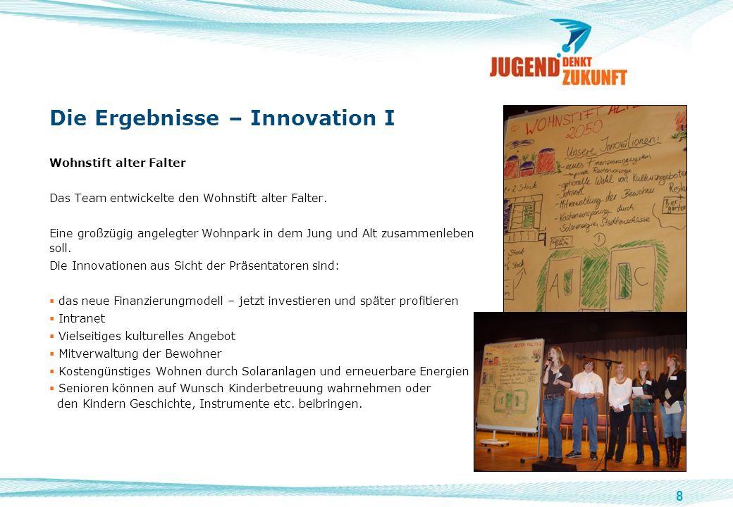 Die Ergebnisse – Innovation I