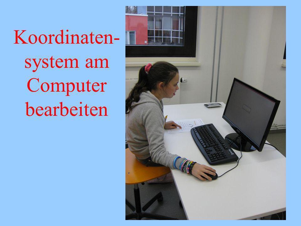 Koordinaten-system am Computer bearbeiten