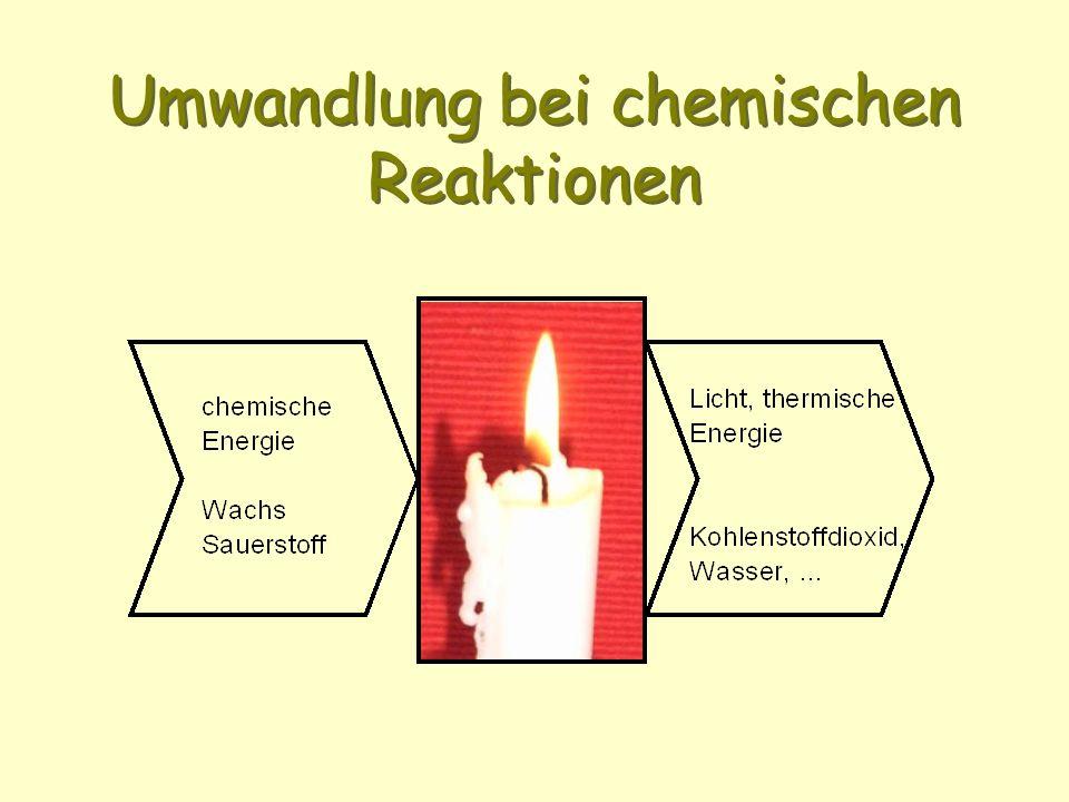 Umwandlung bei chemischen Reaktionen