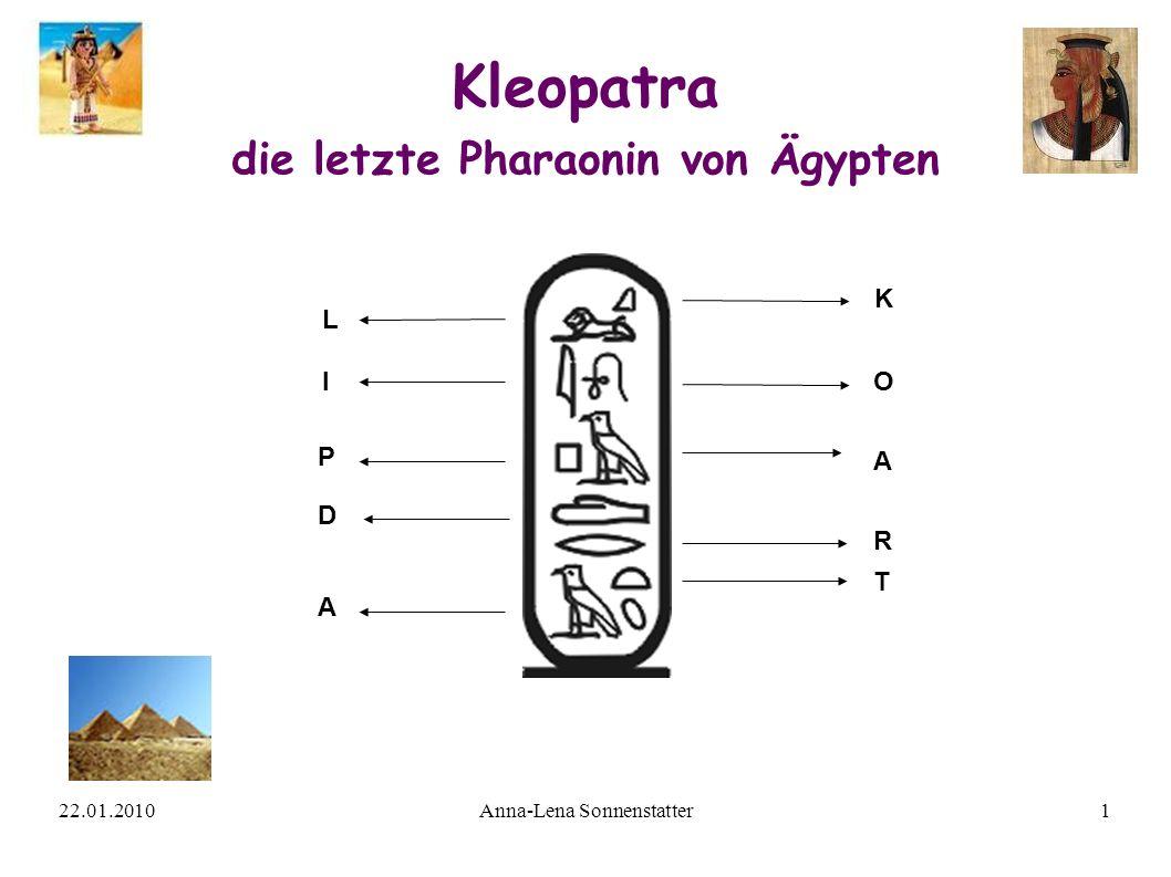 Kleopatra die letzte Pharaonin von Ägypten