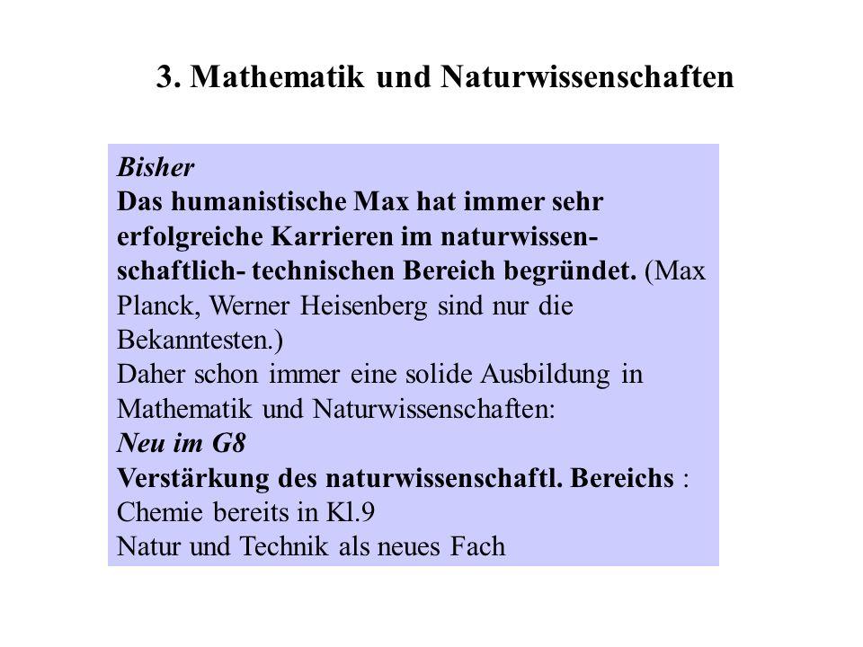 3. Mathematik und Naturwissenschaften
