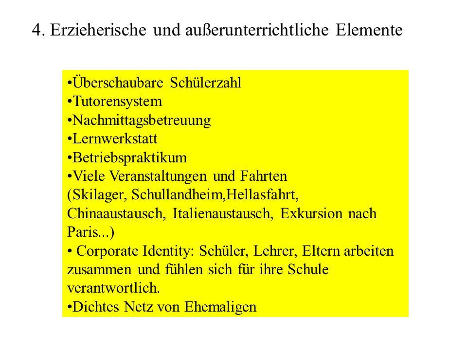 4. Erzieherische und außerunterrichtliche Elemente