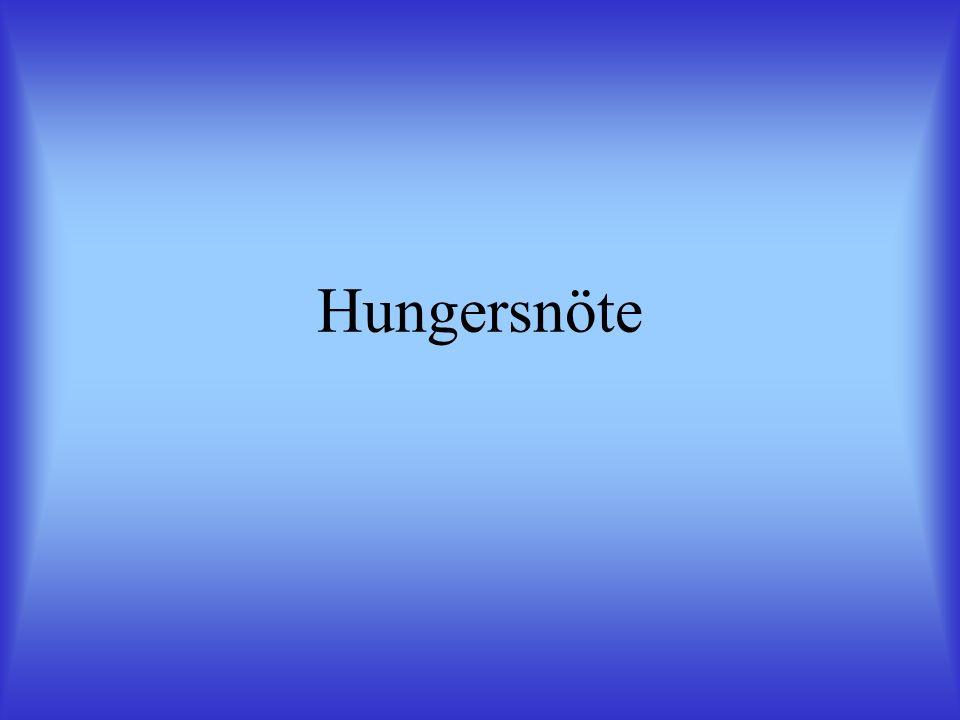 Hungersnöte