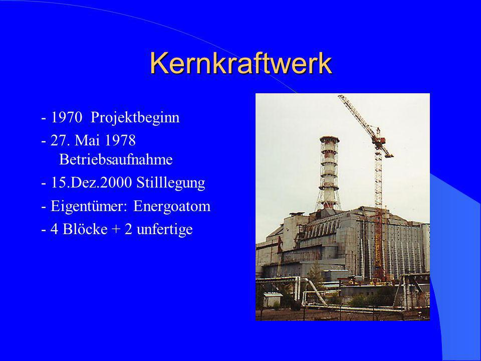 Kernkraftwerk - 1970 Projektbeginn - 27. Mai 1978 Betriebsaufnahme