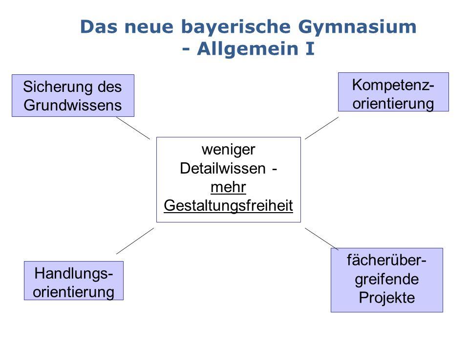 Das neue bayerische Gymnasium