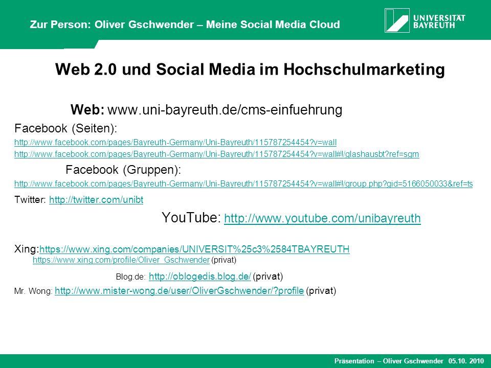 Web 2.0 und Social Media im Hochschulmarketing