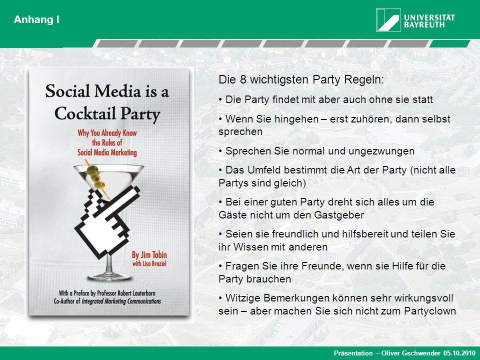 Die 8 wichtigsten Party Regeln: