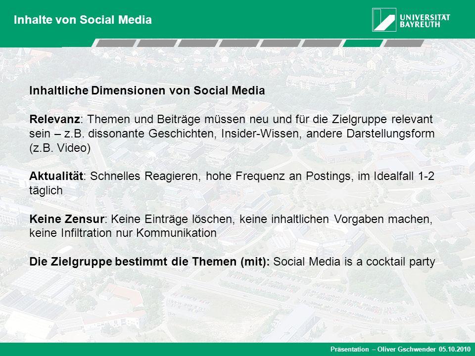 Inhalte von Social Media