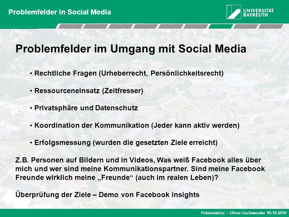 Problemfelder im Umgang mit Social Media