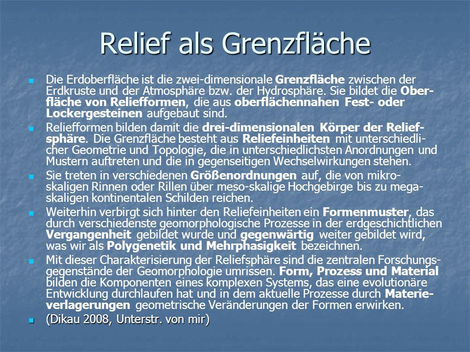 Relief als Grenzfläche