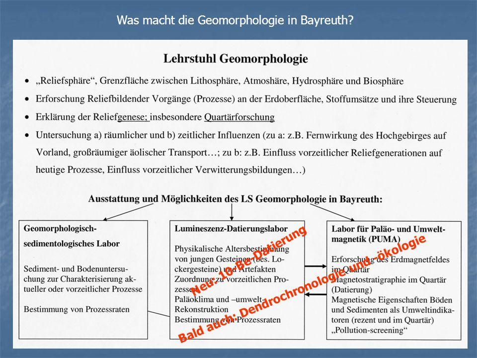 Was macht die Geomorphologie in Bayreuth