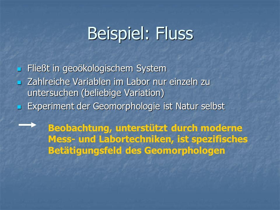 Beispiel: Fluss Fließt in geoökologischem System