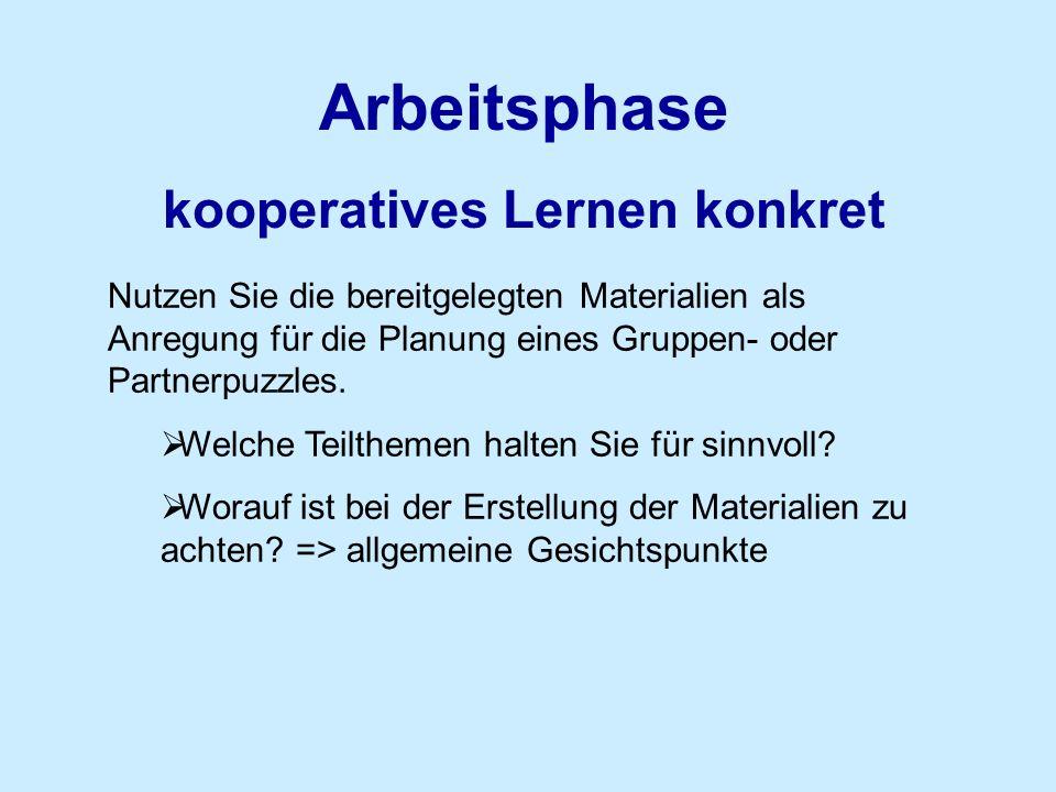 kooperatives Lernen konkret