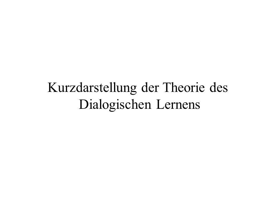 Kurzdarstellung der Theorie des Dialogischen Lernens