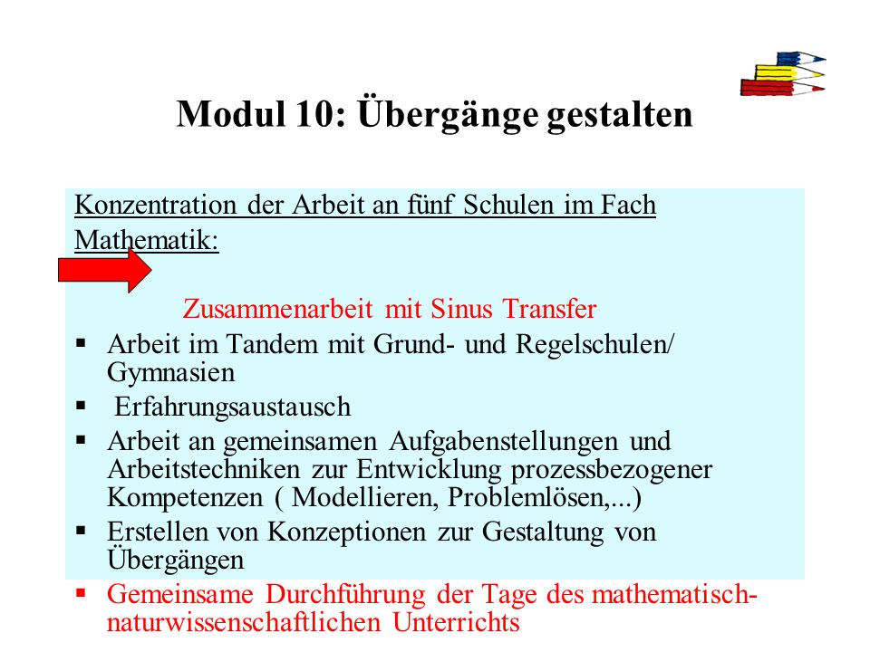Modul 10: Übergänge gestalten