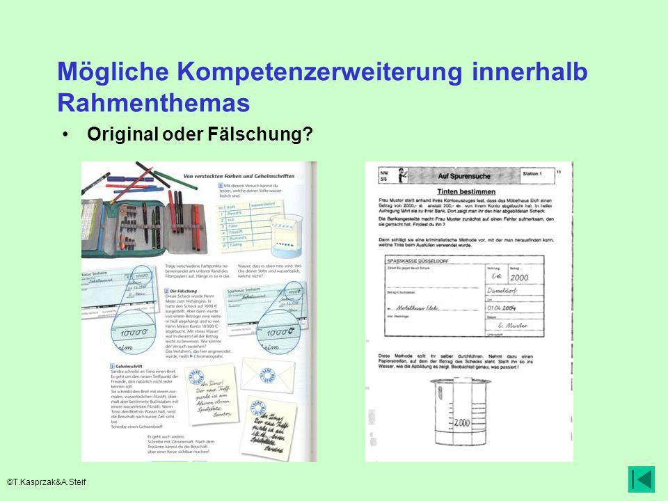 Mögliche Kompetenzerweiterung innerhalb Rahmenthemas