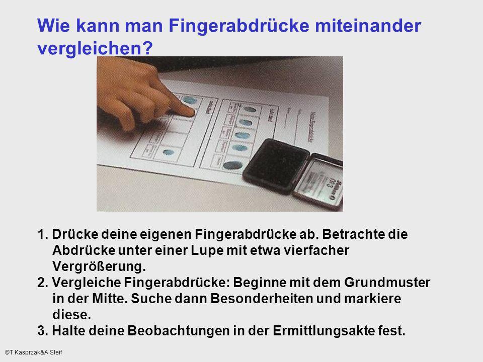 Wie kann man Fingerabdrücke miteinander vergleichen. 1