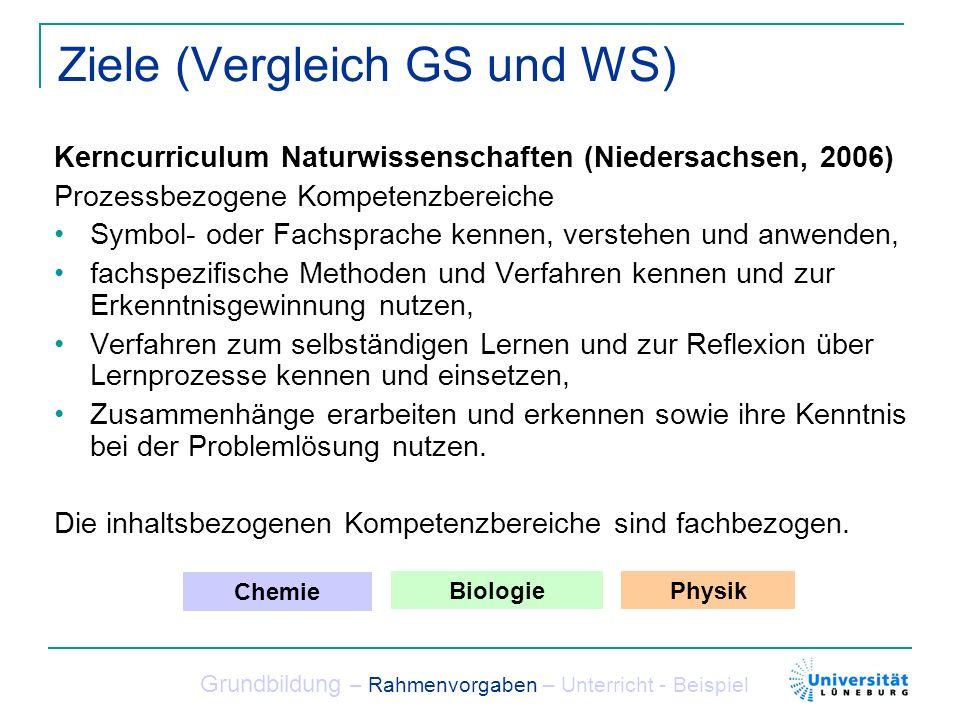 Ziele (Vergleich GS und WS)