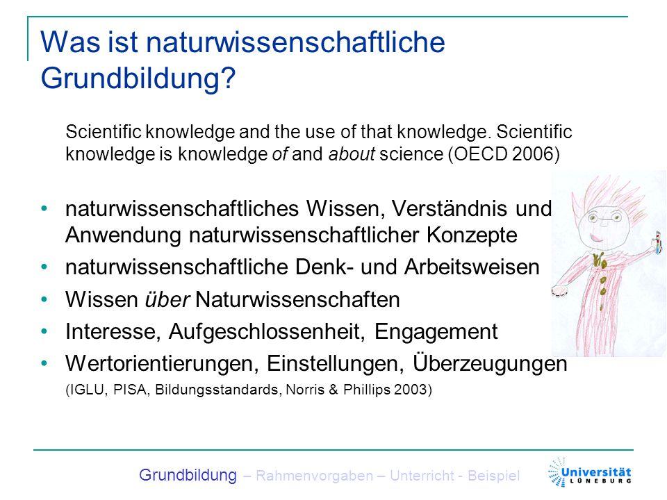 Was ist naturwissenschaftliche Grundbildung