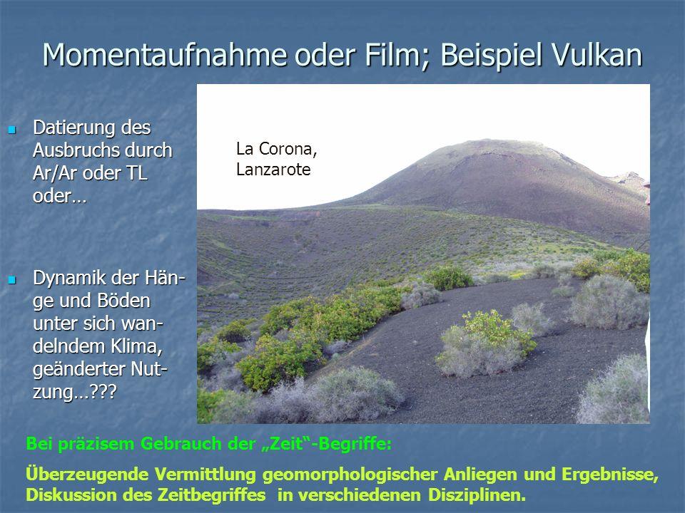 Momentaufnahme oder Film; Beispiel Vulkan