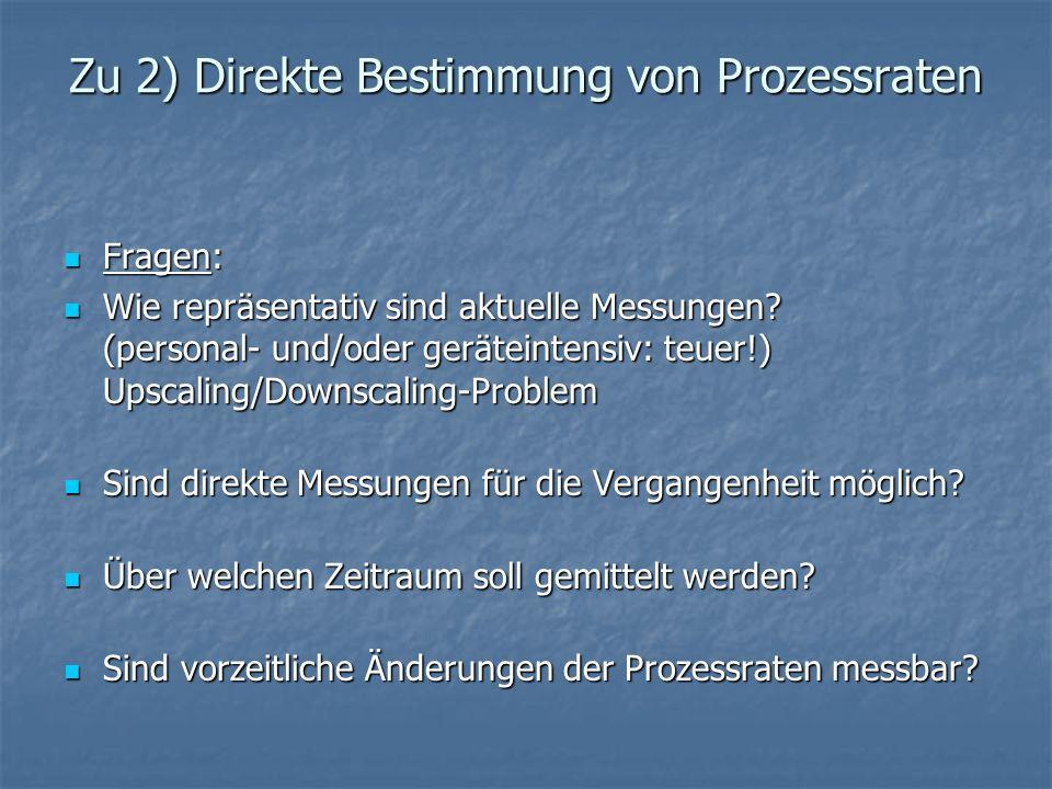 Zu 2) Direkte Bestimmung von Prozessraten