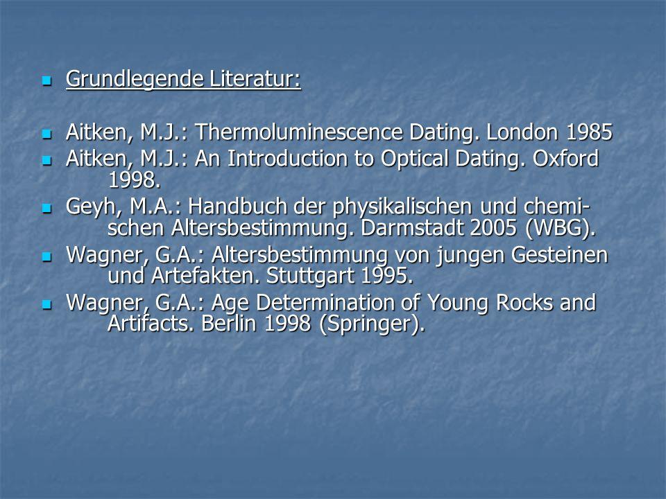 Grundlegende Literatur: