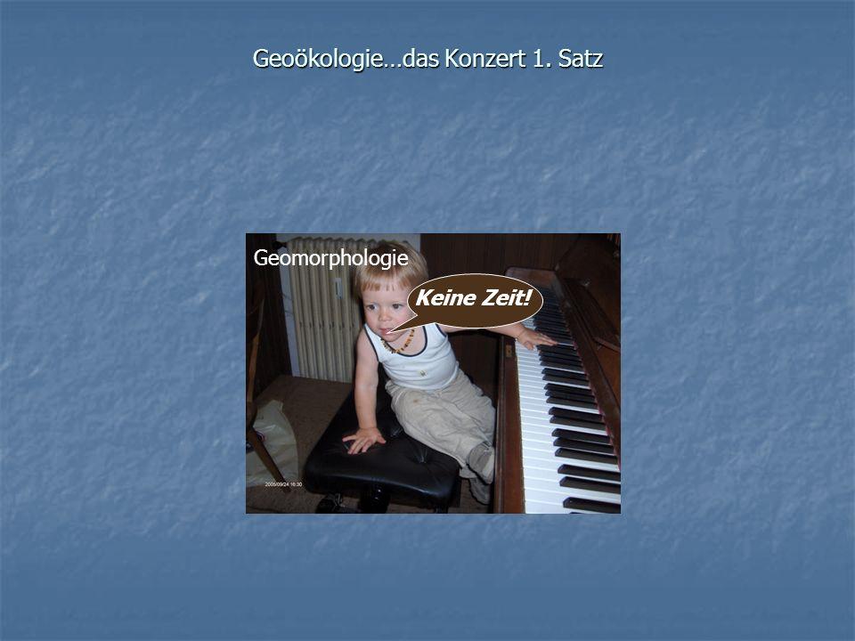 Geoökologie…das Konzert 1. Satz