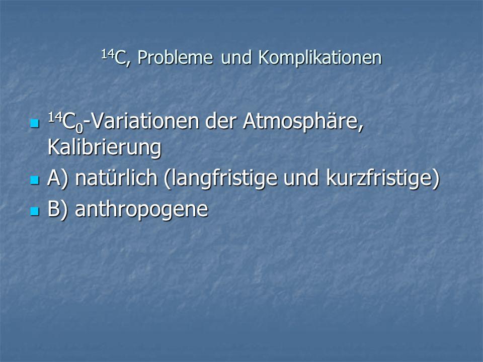 14C, Probleme und Komplikationen