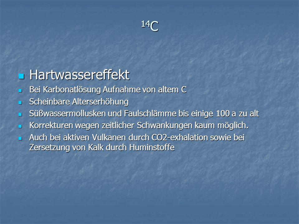 14C Hartwassereffekt Bei Karbonatlösung Aufnahme von altem C