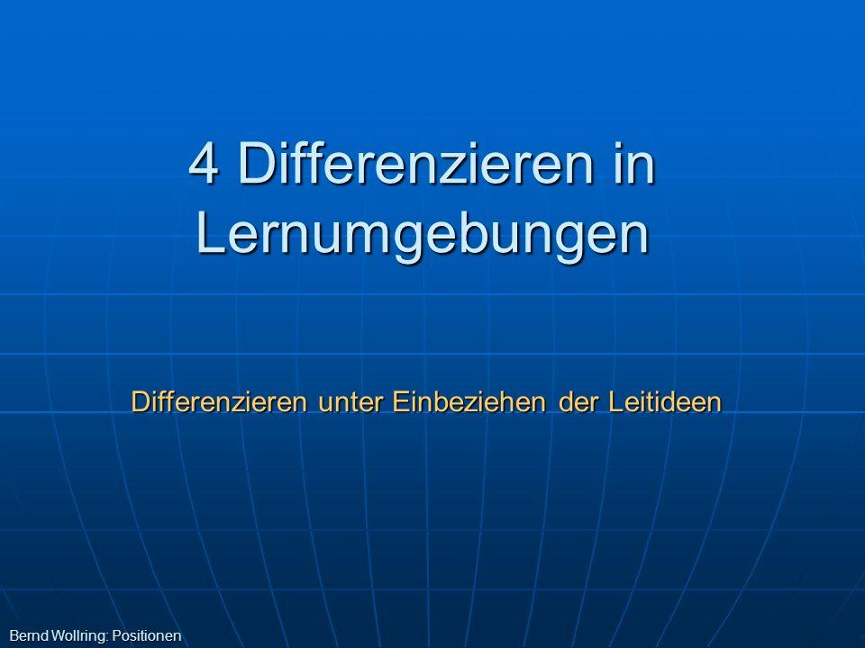 4 Differenzieren in Lernumgebungen