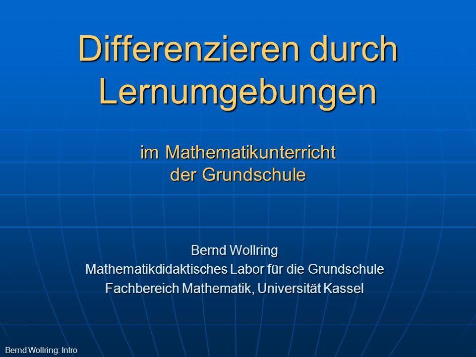 Differenzieren durch Lernumgebungen im Mathematikunterricht der Grundschule
