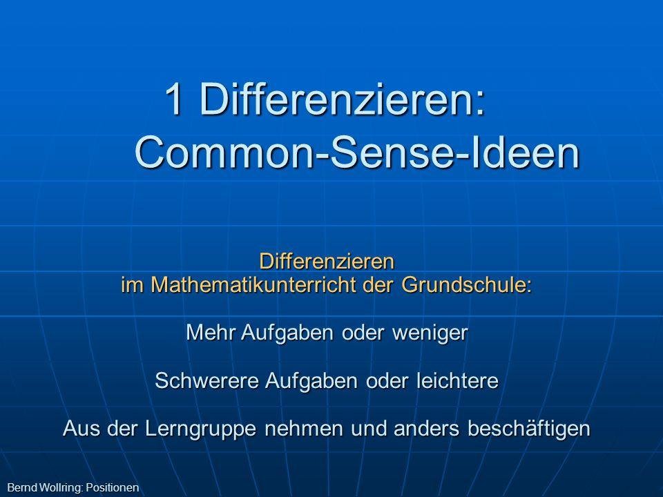 1 Differenzieren: Common-Sense-Ideen
