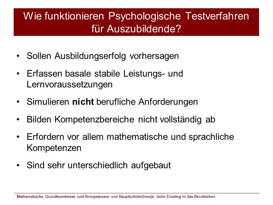 Wie funktionieren Psychologische Testverfahren für Auszubildende