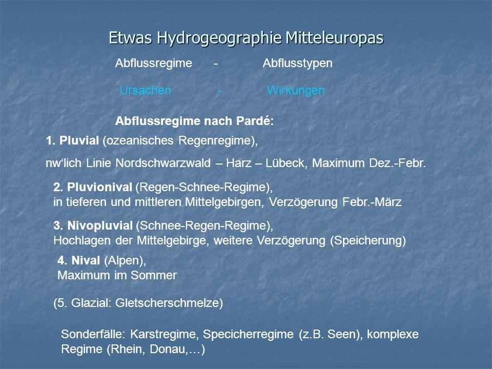 Etwas Hydrogeographie Mitteleuropas