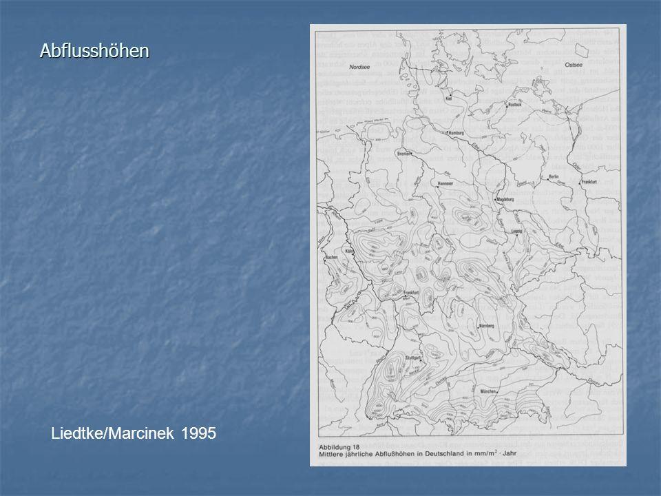 Abflusshöhen Liedtke/Marcinek 1995