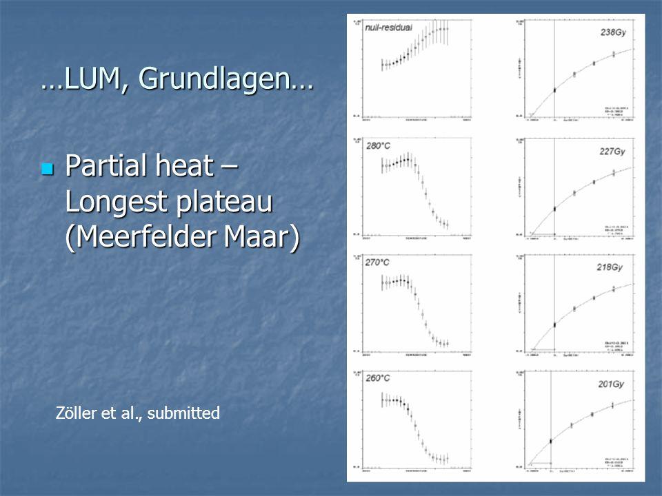 Partial heat – Longest plateau (Meerfelder Maar)