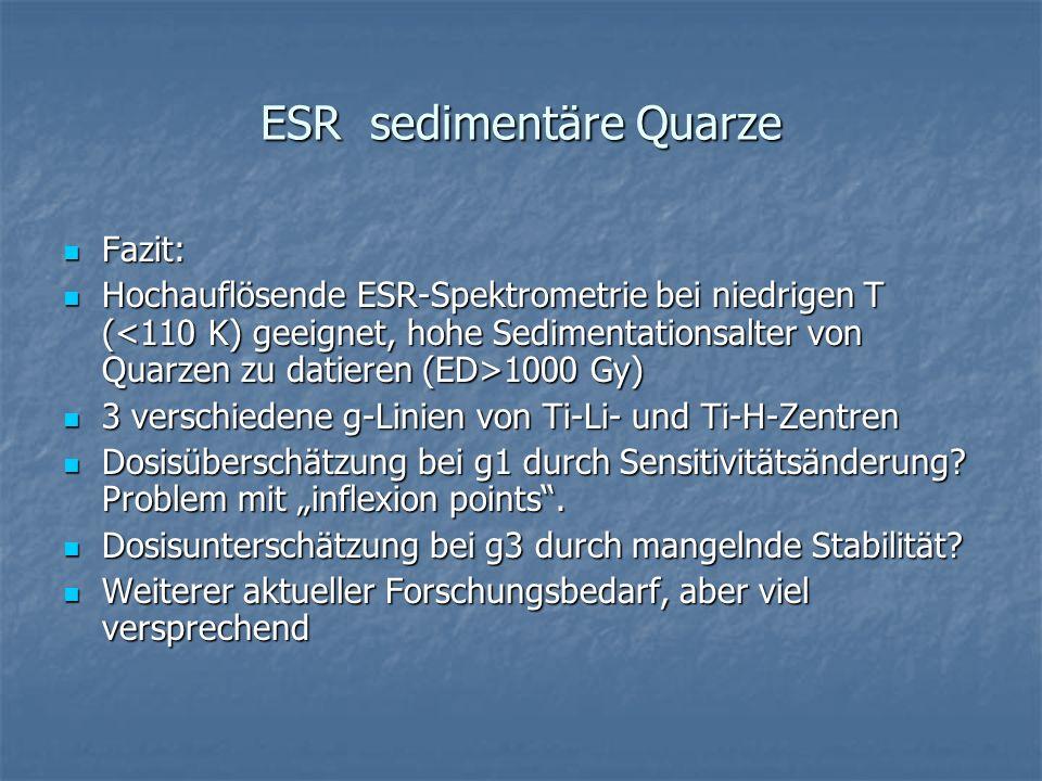 ESR sedimentäre Quarze