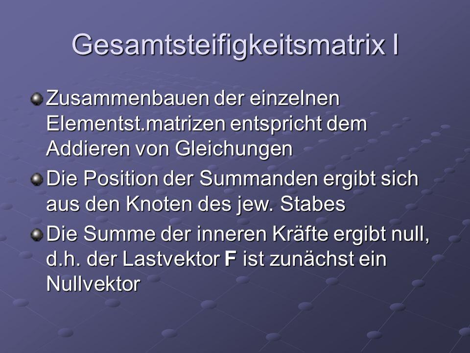 Gesamtsteifigkeitsmatrix I